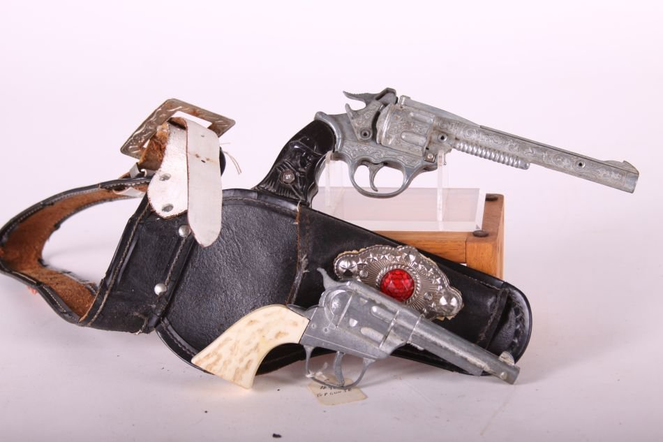 Lot of Two Cap Guns, Die Cast, One Top Gun Jr. by