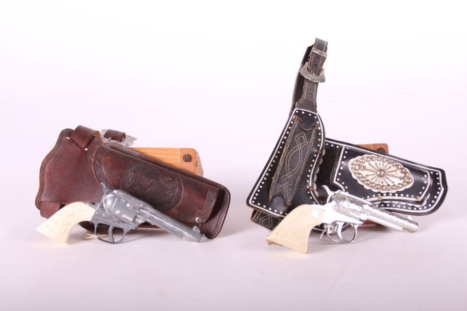 Lot of Two Cap Guns by Unknown Maker, One Top Gun Jr.,