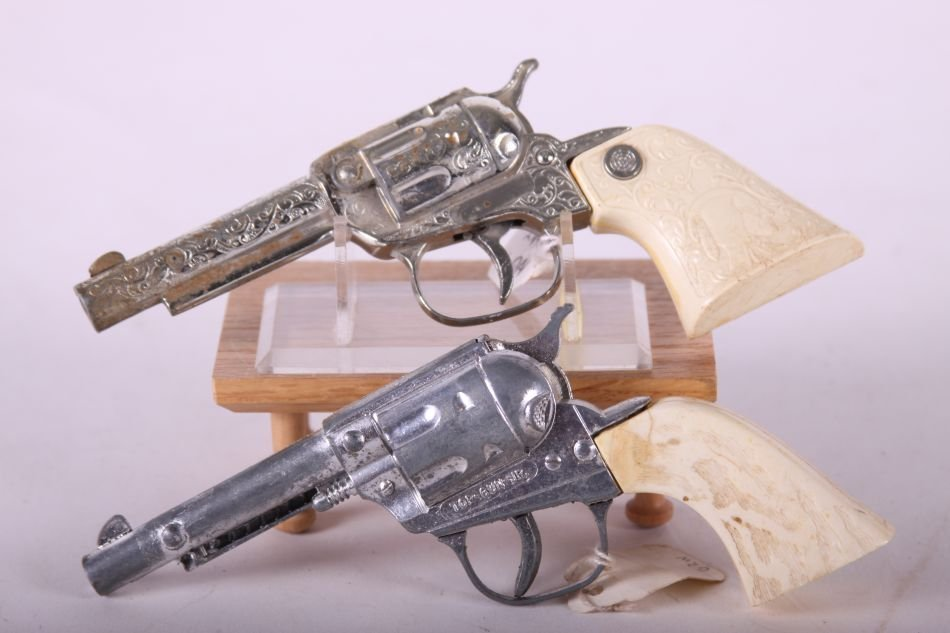 Lot of Two Cap Guns by Unknown Maker, One Top Gun Jr., - 2