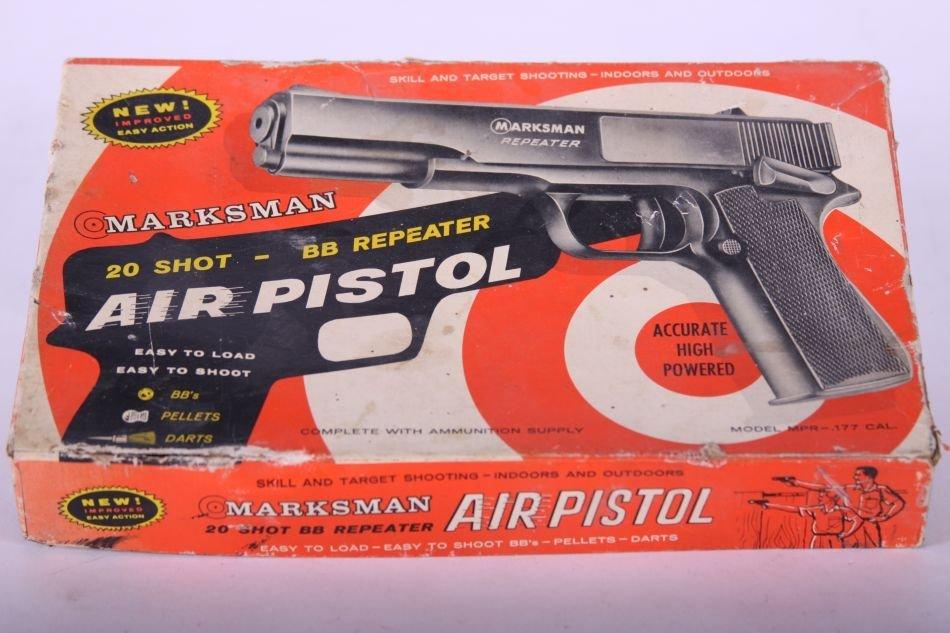Marksman 20 Shot-BB Repeater Air Pistol, Orig. Box