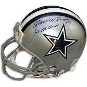 Ed Too Tall Jones Signed Dallas Cowboys Authentic  He