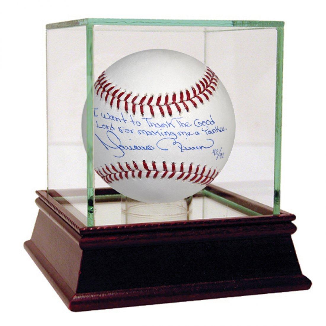 """Mariano Rivera Signed MLB Baseball w/ """"I Want To Thank"""