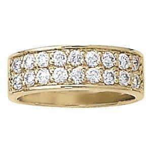 14K Gold 0.96 ctw Round Diamond Ring.  Brand New!