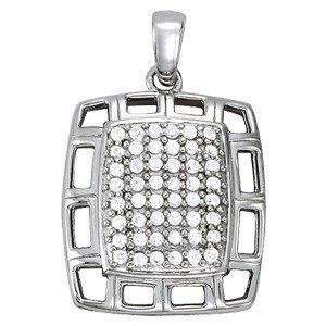 14K Gold 0.48 ctw Round Diamond Pendant.  Brand New!