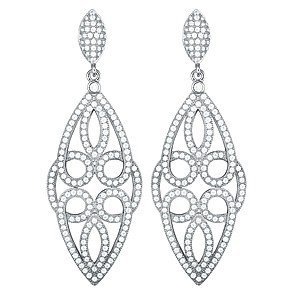 White Silver/Earrings Features 6.52 Grams of White Silv