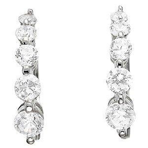 14K Gold 0.5 ctw Round Diamond Earrings.  Brand New!