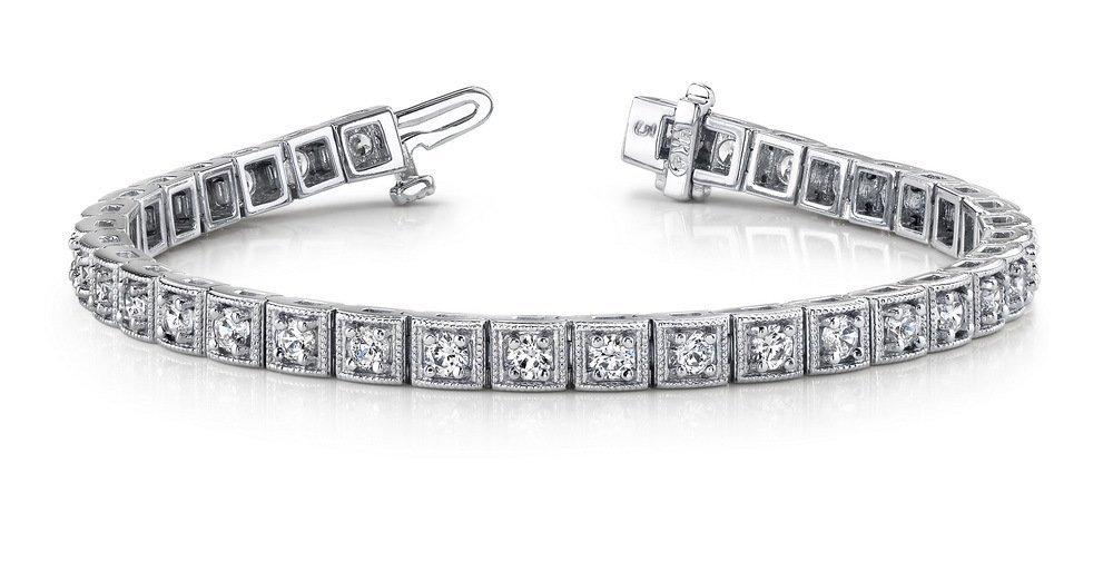 14KT Gold 2.5 ct Diamond Bracelet Featuring 14.4 Grams