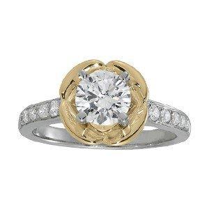 14K Gold 1.288 ctw Round Diamond Ring.  Brand New!   Fe