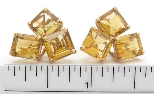 These beautifulÊ14KÊyellow gold earrings each feature t