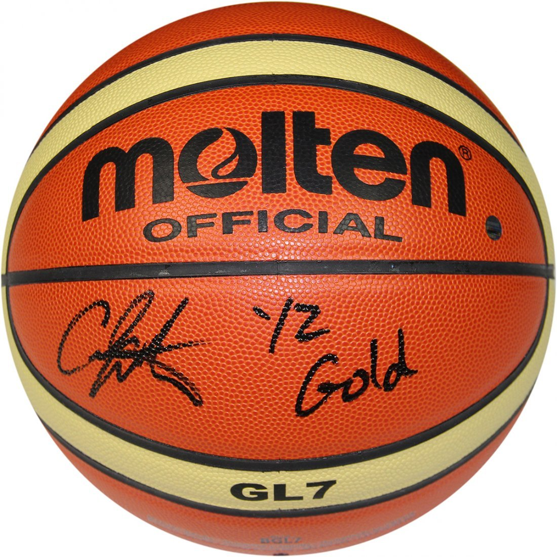 Carmelo Anthony Signed  Molten FIBA Official Olympic Ba