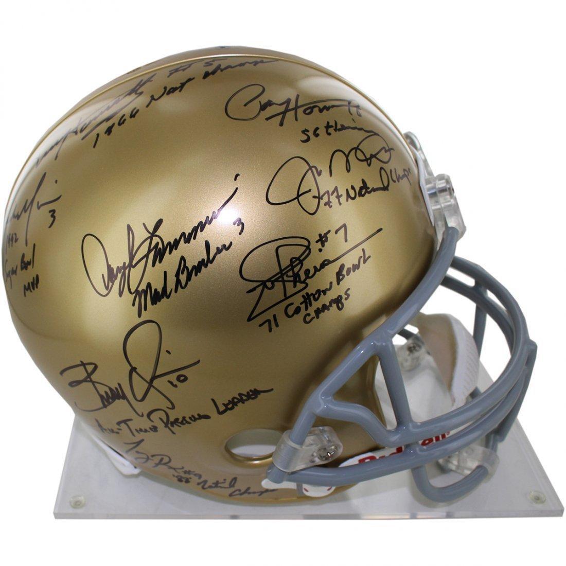 Notre Dame QB Legends 8 Signature Helmet w/Inscriptions