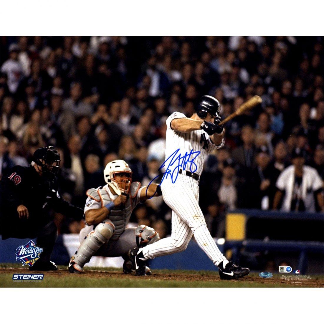 Tino Martinez Signed 1998 World Series Game 1 Grand Sla