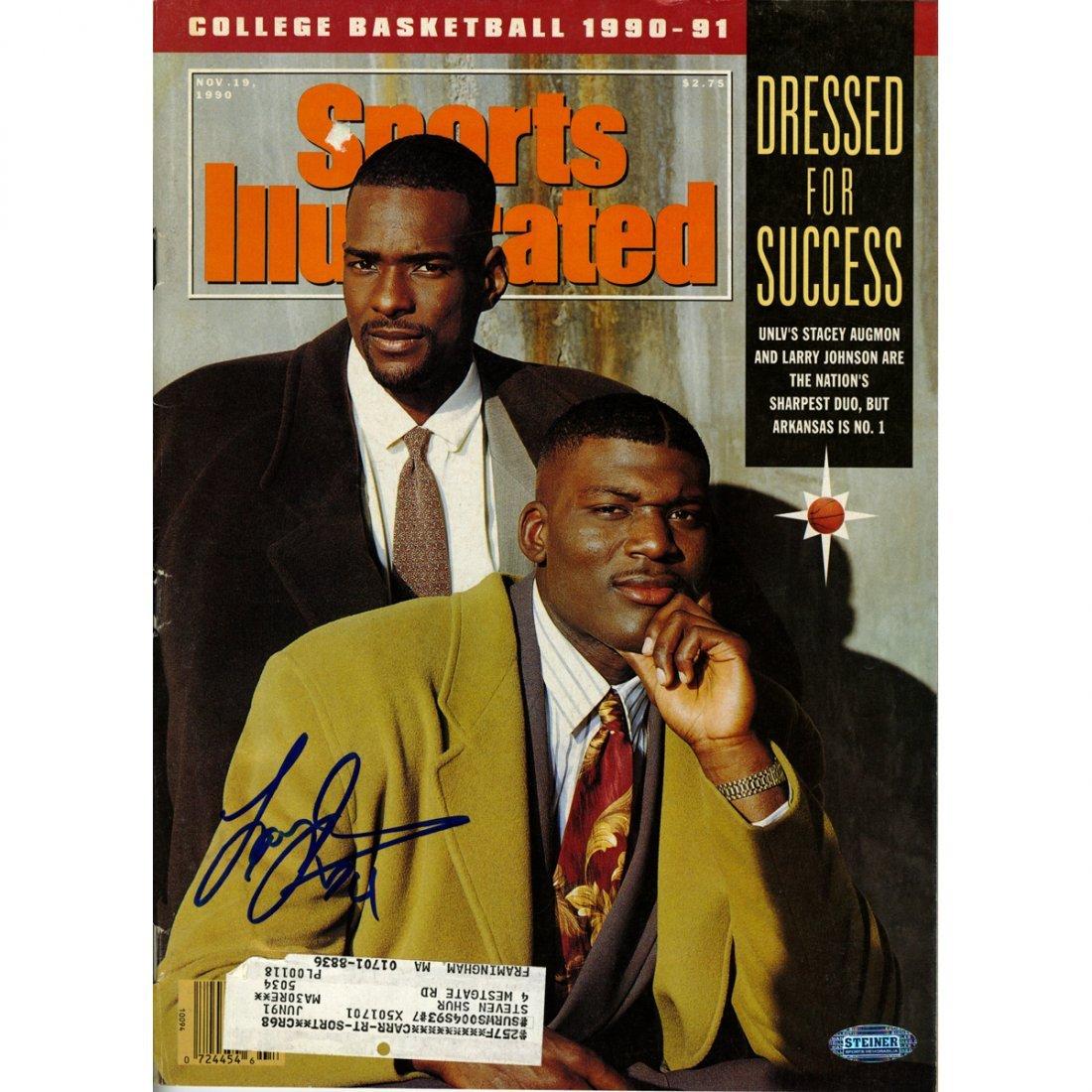 Larry Johnson Signed 11/19/1990 Sports Illustrated Maga