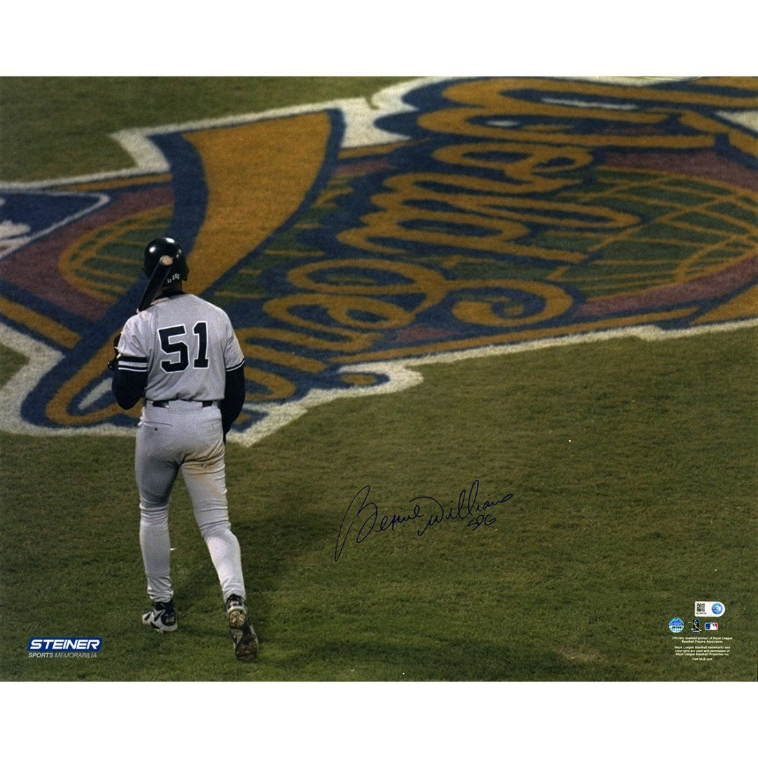 Bernie Williams Signed 1996 16x20 World Series Photo