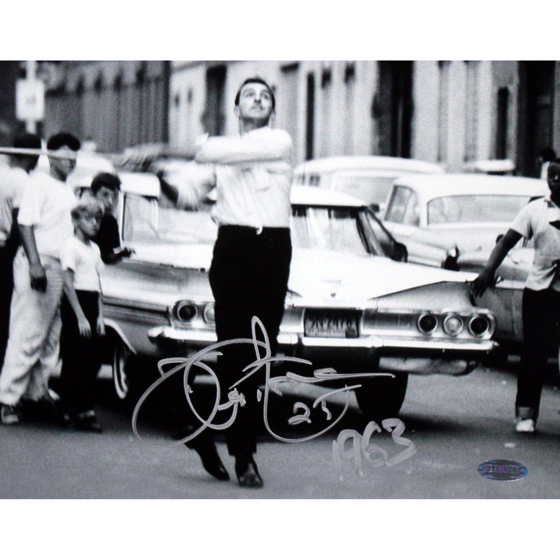 Joe Pepitone Playing Stickball 8x10 Photo w/ 1963 Inc.