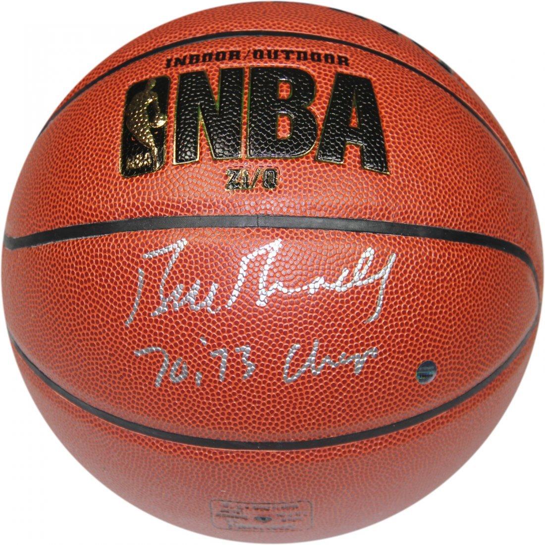 Bill Bradley Signed I/O NBA Brown Basketball w/ 70-73 C
