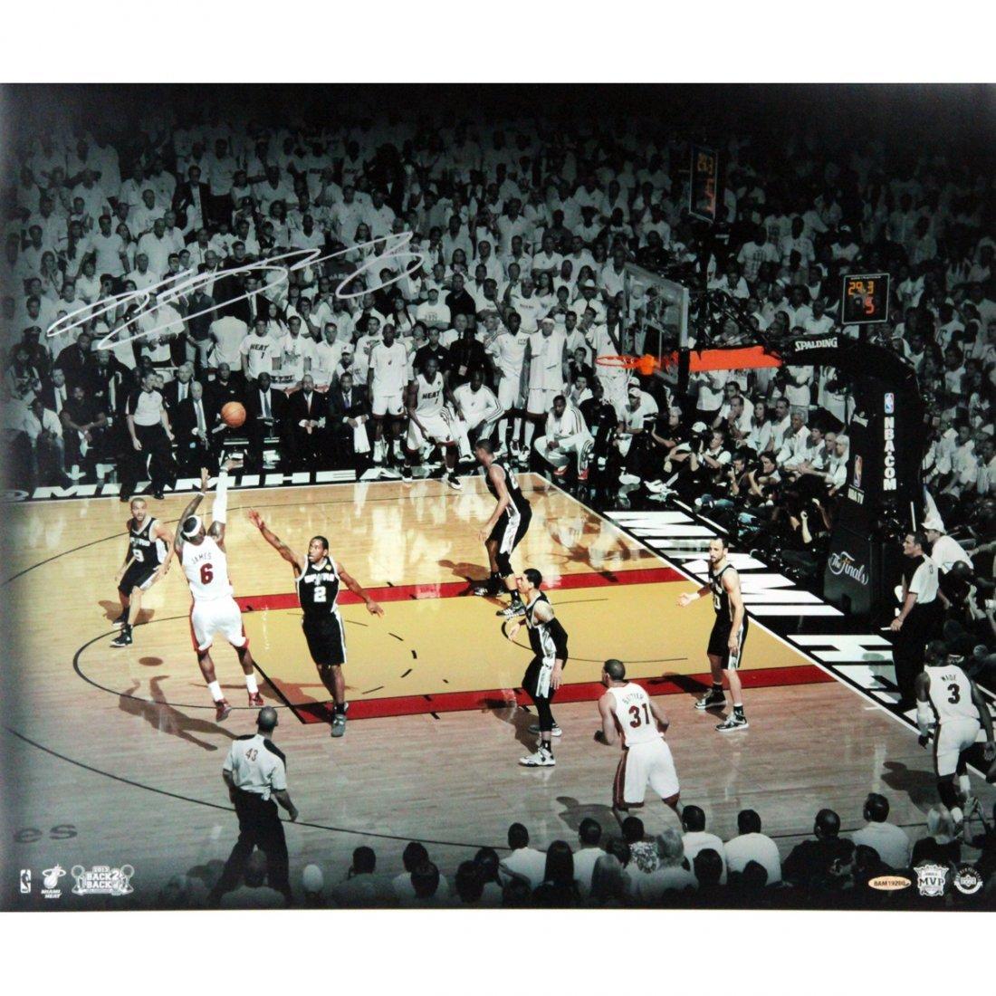 LeBron James 2013 Finals  Shot Signed 20x24 Photo Colla