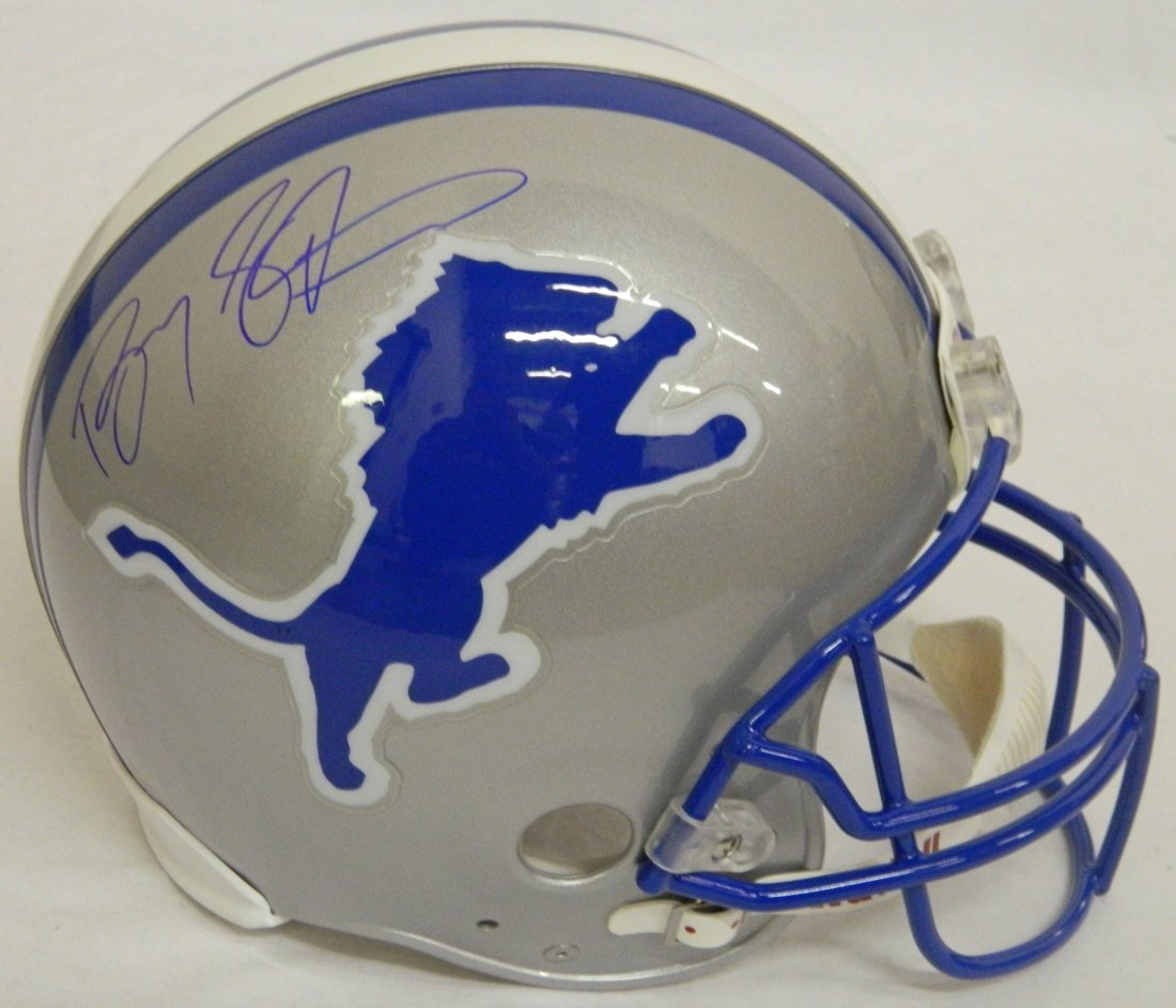Barry Sanders signed Lions Ridell Throwback authentic P