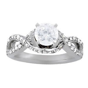 14K Gold 1.14 ctw Round Diamond Ring.  Brand New!   Fea