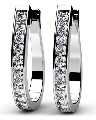 14KT Gold 0.5 ct Diamond Earrings   Featuring 3.7 Grams