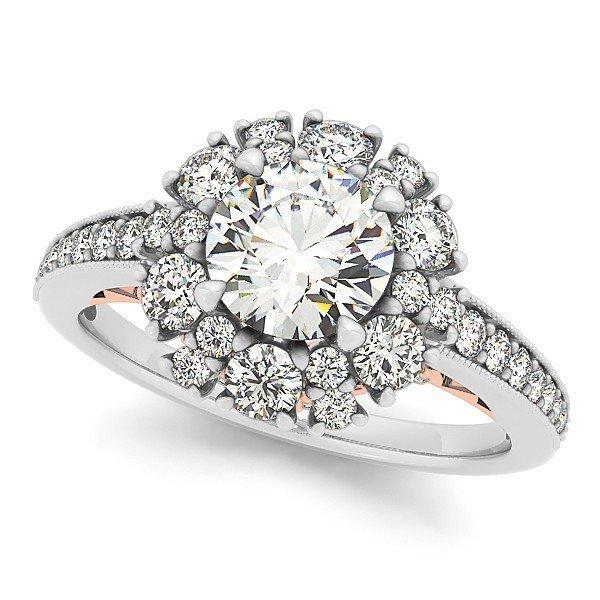 14K Gold 1.51 ctw Round Diamond Ring.  Brand New!   Fea