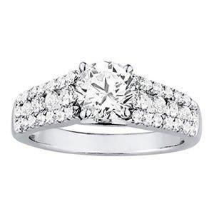 14K Gold 2.83 ctw Round Diamond Ring.  Brand New!   Fea