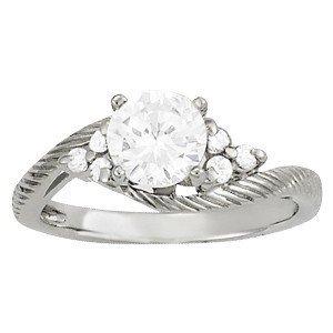 14K Gold 0.18 ctw Round Diamond Ring.  Brand New!