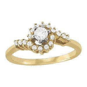 14K Gold 1.68 ctw Round Diamond Ring.  Brand New!   Fea