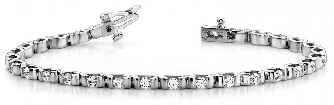 14KT Gold 3 ct Diamond Bracelet Featuring 14.5 Grams of