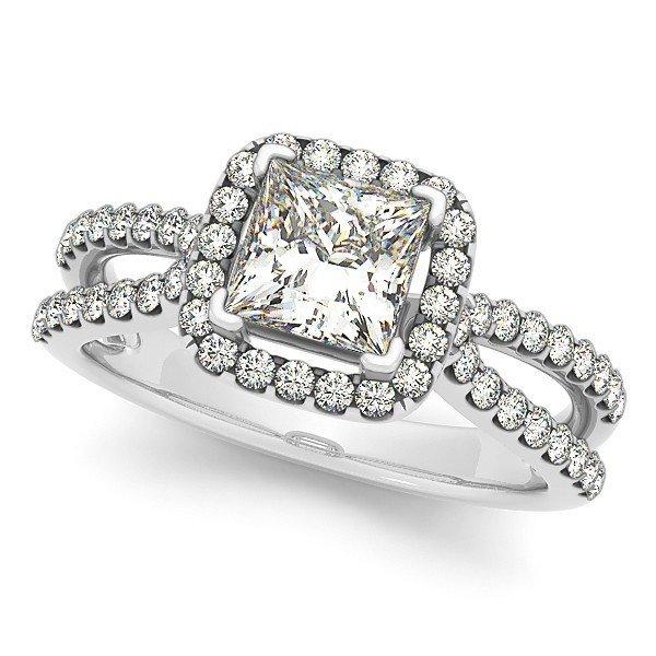 14K Gold 0.541 ctw Square Diamond Ring.  Brand New!   F