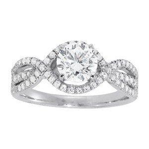 14K Gold 1.33 ctw Round Diamond Ring.  Brand New!   Fea