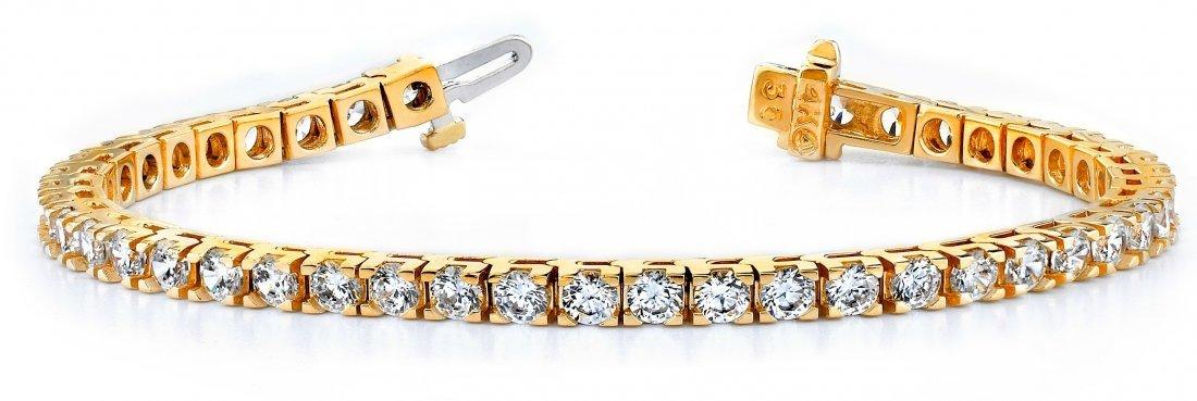 14KT Gold 14 ct Diamond Bracelet Featuring 19.8 Grams o