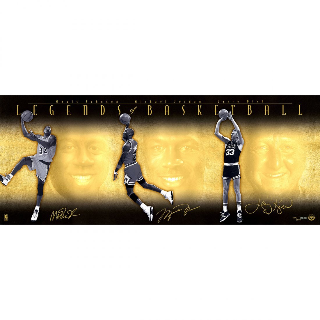 Legends Of Basketball 18x44 Collage Photo (Unframed) Si