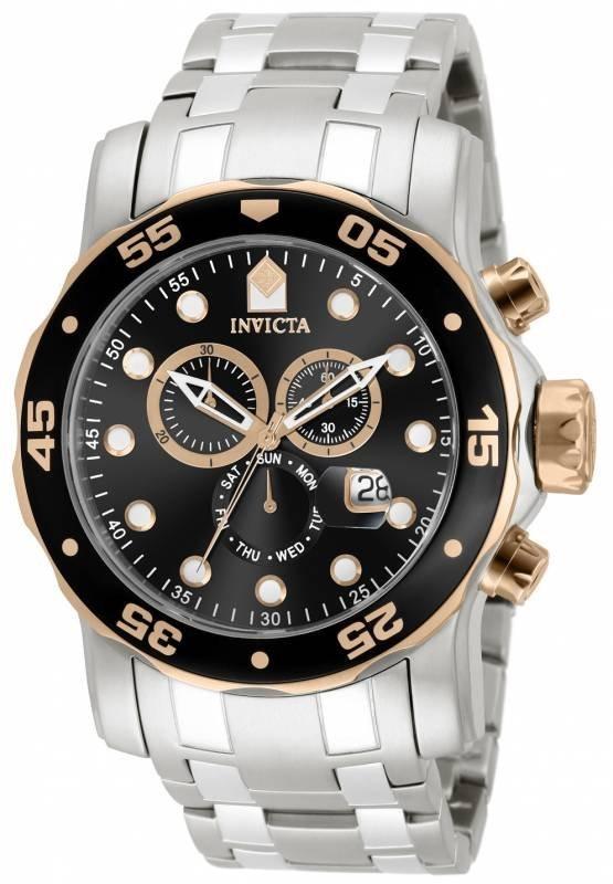 Invicta Men's 80036 Pro Diver Quartz Chronograph Black