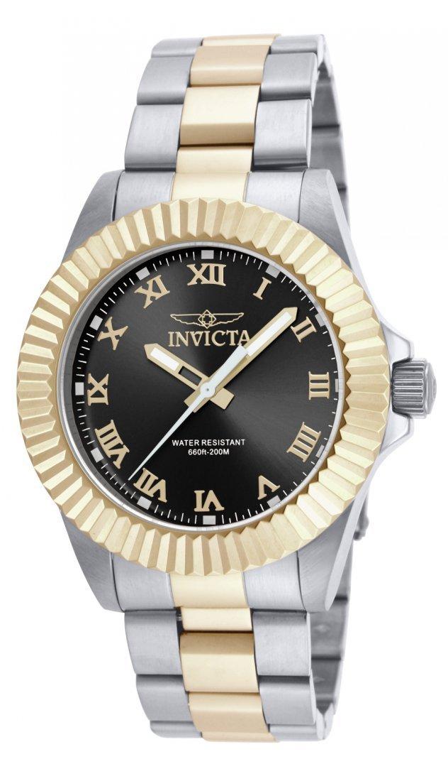 Invicta Men's 16741 Pro Diver Quartz 3 Hand Black Dial