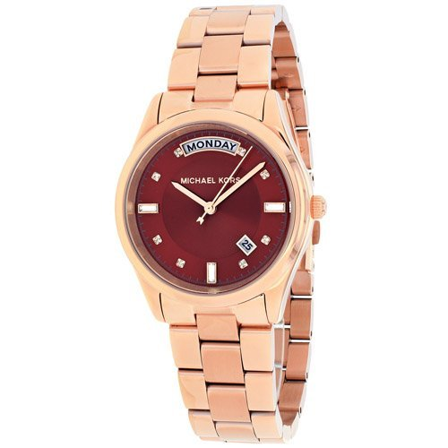 Stainless steel case, Stainless steel bracelet, Red dia