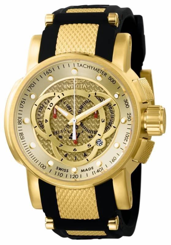 Invicta Men's 0899 S1 Rally Quartz Chronograph Gold Dia