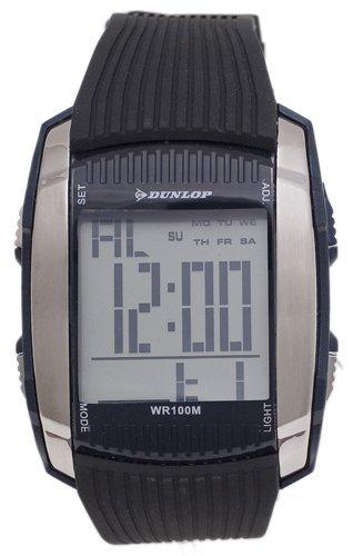 Steel case, Silicone strap, Digital dial, Quartz moveme