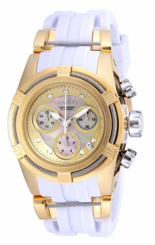 Invicta Women's 16112 Bolt Quartz Chronograph Gold Dial