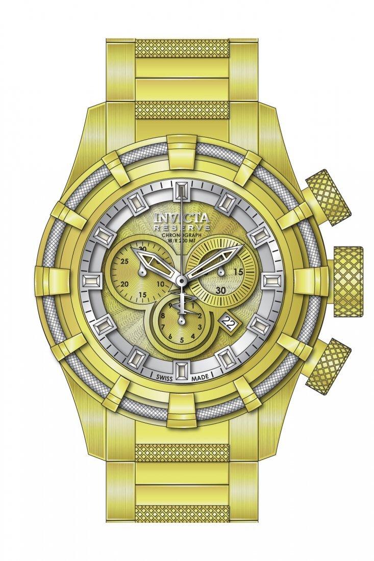 Invicta Men's 19523 Bolt Quartz Chronograph Gold Dial W