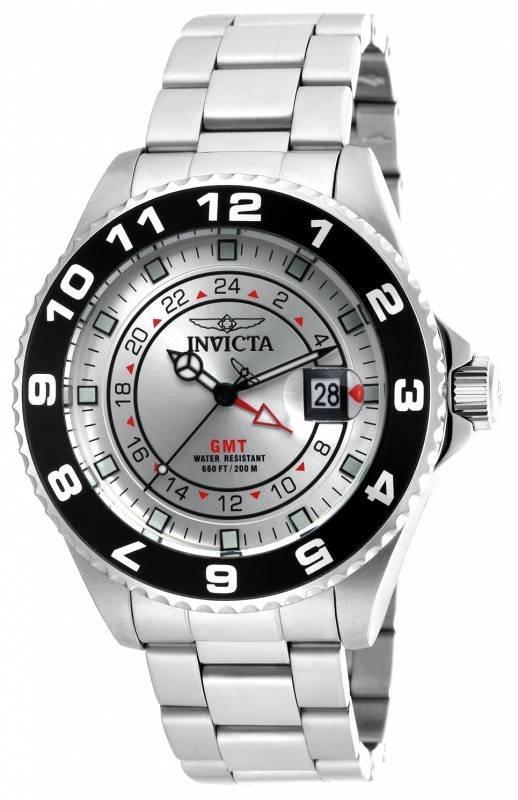 Invicta Men's 18239 Pro Diver Quartz 3 Hand Silver Dial