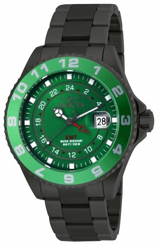 Invicta Men's 18241 Pro Diver Quartz 3 Hand Green Dial