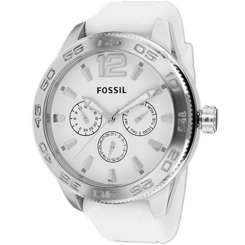 Stainless steel case, Silicone strap, White dial, Quart