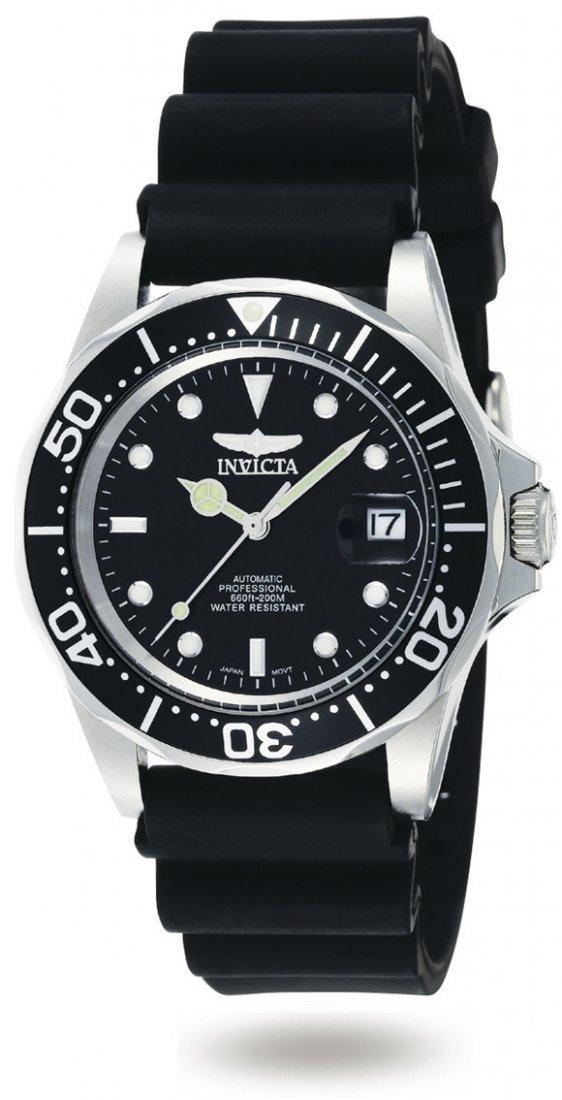 Invicta Men's 9110 Pro Diver Automatic 3 Hand Black Dia