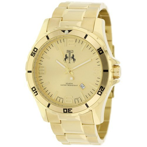 Stainless steel case, Stainless steel bracelet, Gold di