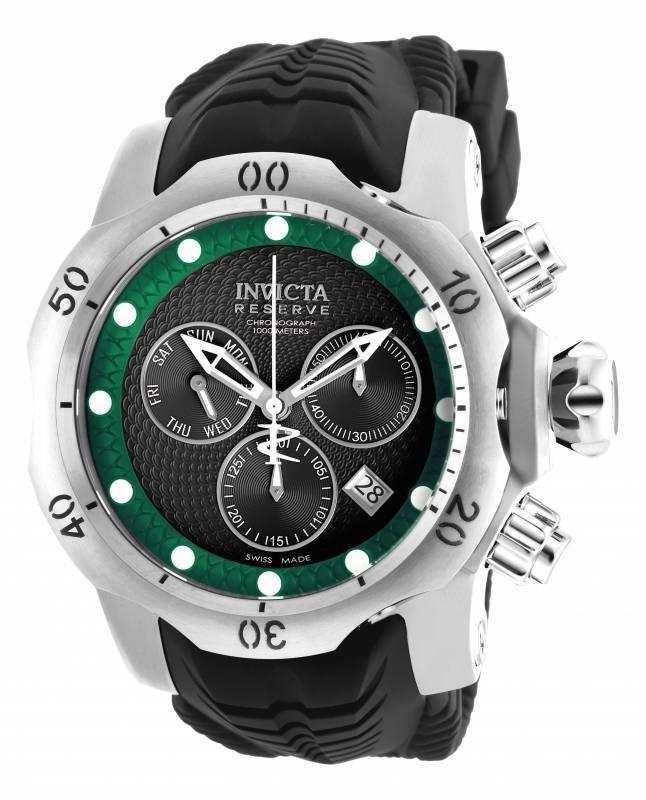 Invicta Men's 19006 Venom Quartz Chronograph Black, Gre