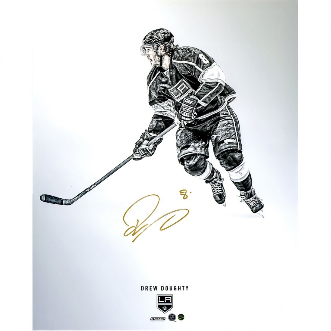 Drew Doughty Signed  Platinum Collection 16x20 Photo