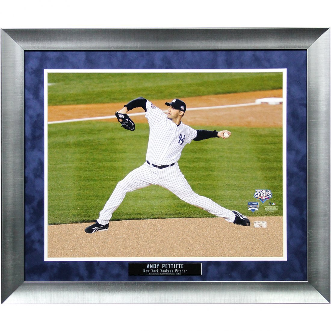 "Andy Pettitte Yankees Home Jersey Pitching ""In The Game"