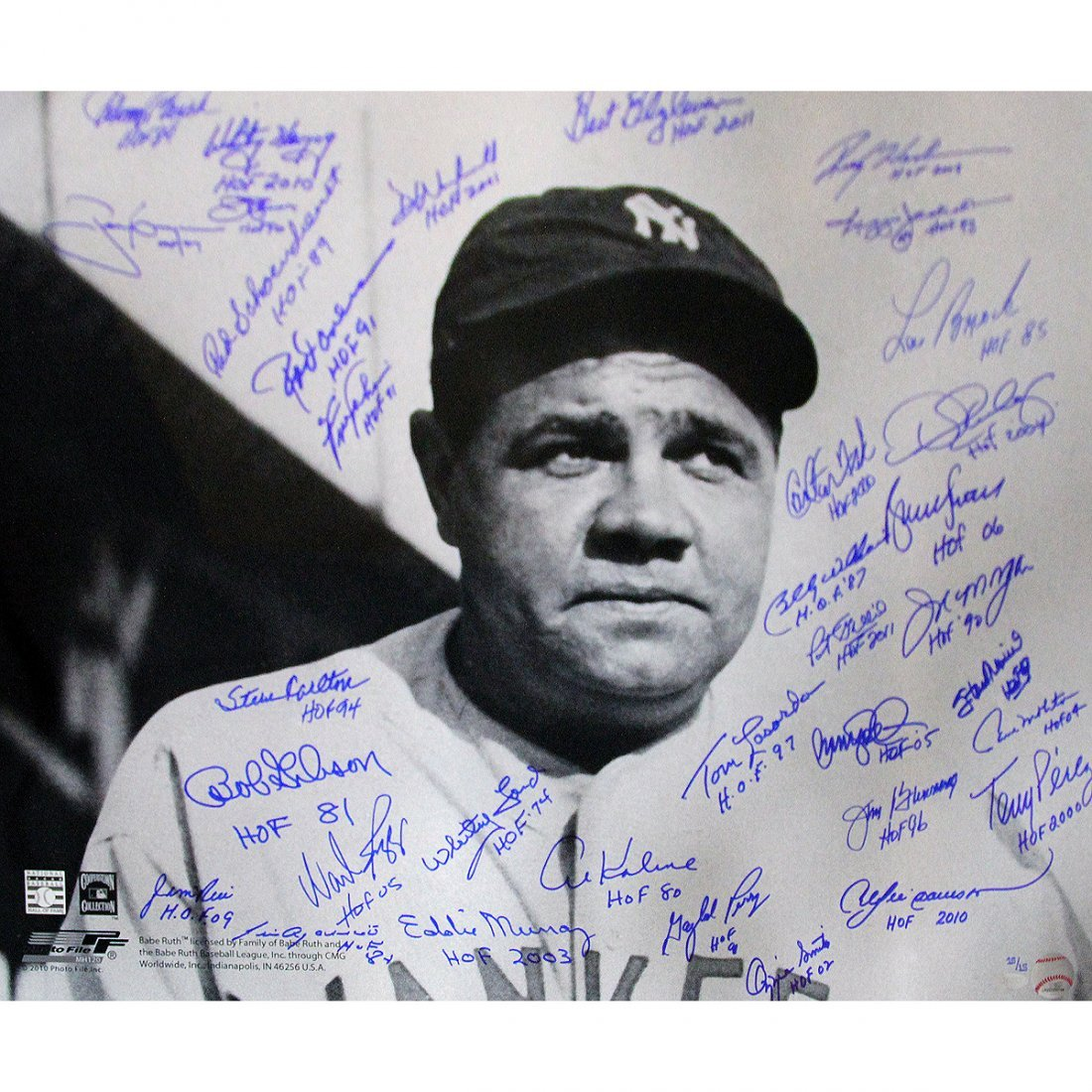 Babe Ruth Stare 20x24 Photo Multi Signed w/ HOF Insc. L