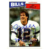 Jim Kelly Signed 1987 Topps Rookie Card w 35467 Yds